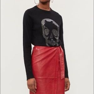 NEW Zadig & Voltaire Crystal Skull Sweater